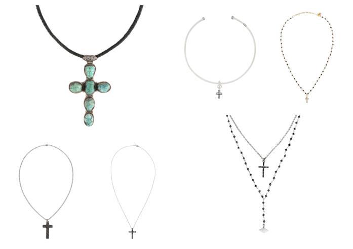Con le croci e a rosario, le collane di tendenza per l'estate 2018