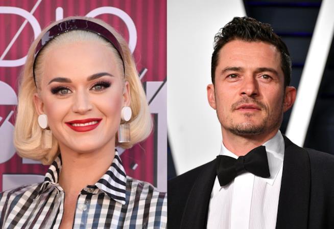 Katy Perry insieme al fidanzato Orlando Bloom