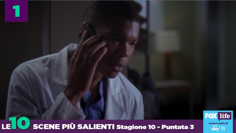 Shane chiama Meredith perché è preoccupato per il dottor Webber che non riesce a mangiare.