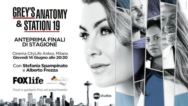 Finale di stagione Grey's Anatomy 14 Cinema Citylife Anteo Milano 14 giugno