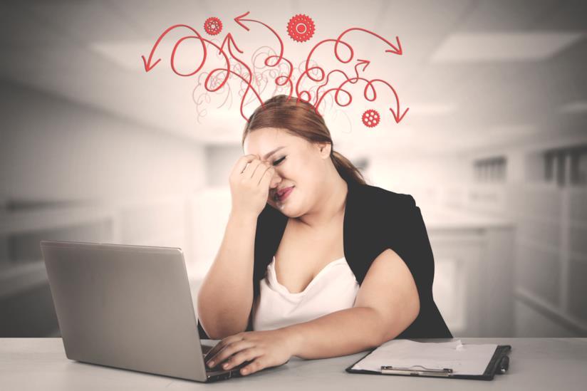 Sovrappeso femminile: stress