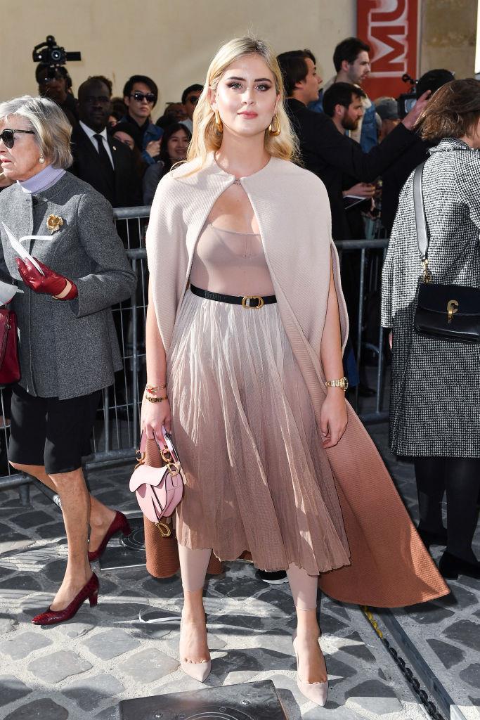 La sorella di Chiara Ferragni alla sfilata Dior