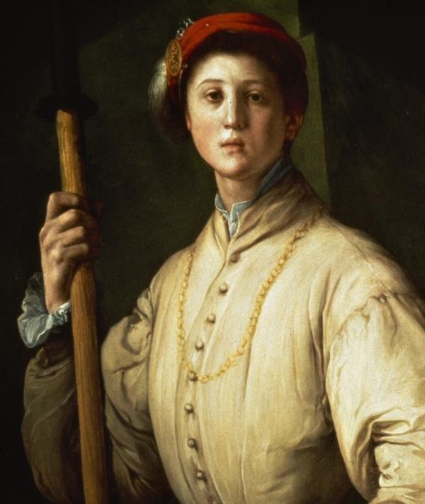Ritratto di alabardiere dipinto da Pontormo