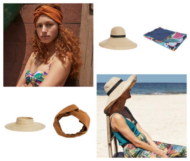 Cappelli, fasce e teli per il mare estate 2018
