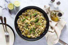 Piatto di riso e verdura