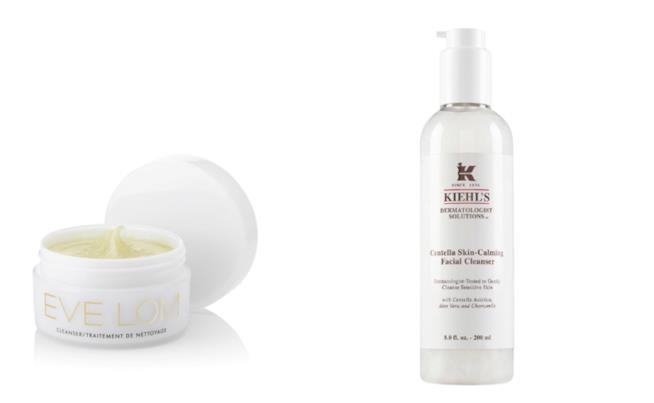Cleanser di Eve Lom e Centella Skin-Calming Facial Cleanser di Kiehl's