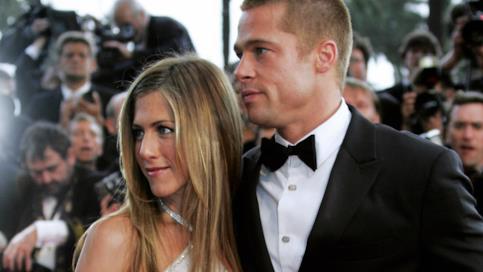 Brad Pitt con Jennifer Aniston, ai tempi del loro matrimonio