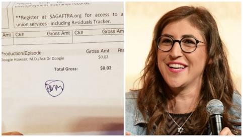Mayim Bialik e la ricevuta del suo pagamento