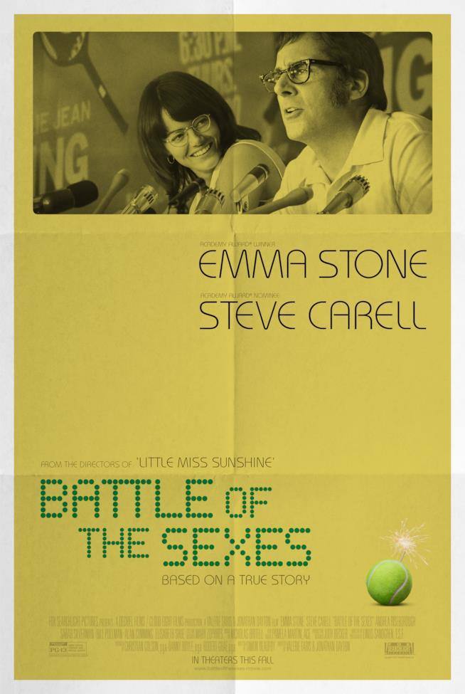 Poster ufficiale de La battaglia dei sessi