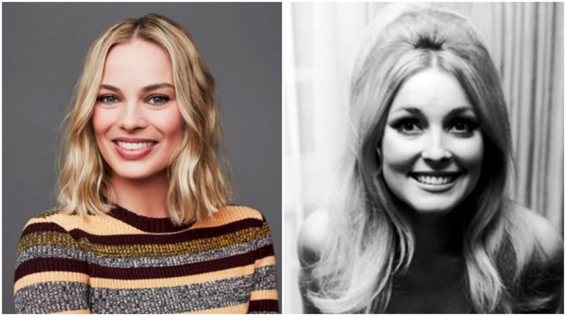 Sharon Tate in un collage con Margot Robbie
