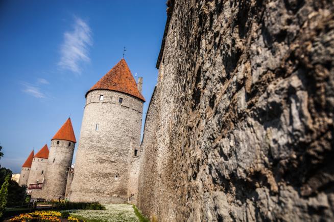 Mura e torri antiche di Tallinn
