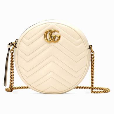 Mini borsa a spalla rotonda GG Marmont