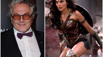 George Miller e Wonder Woman interpretata da Gal Gadot