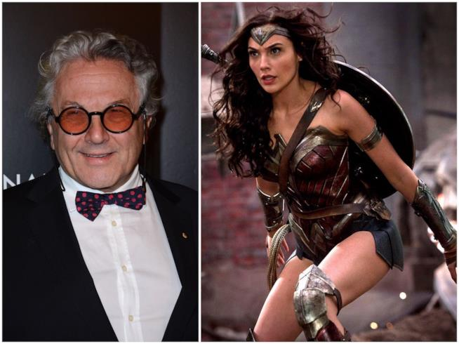 George Miller e Wonder Woman interpretata da Gal Gadot