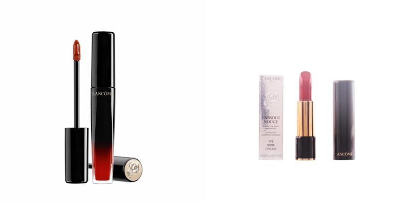 Nuovo rossetto luminoso Lancome L'absolu lacquer e il classico Absolu rouge