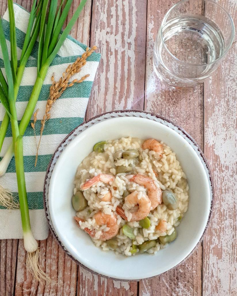Piatto di riso e pesce