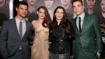 Stephenie Meyer, Taylor Lautner, Robert Pattinson, Kristen Stewart