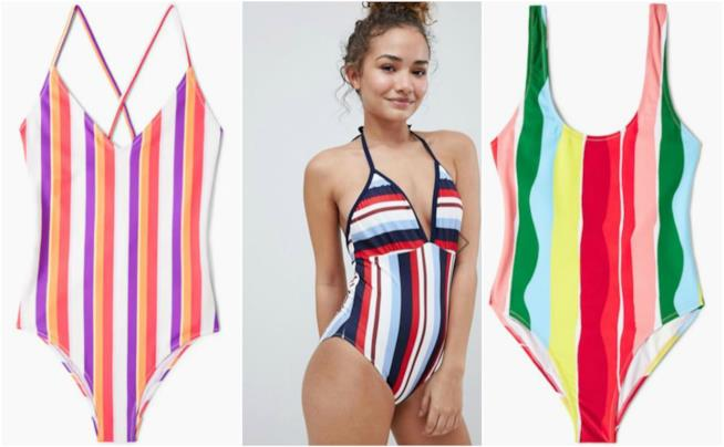 Costumi modello Demi Lovato arcobaleno