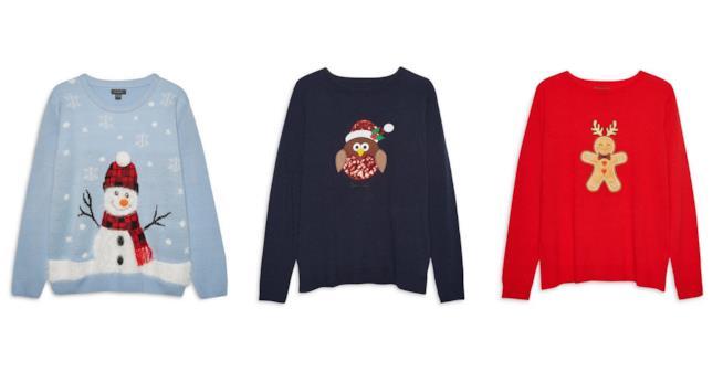 Tre maglioni della collezione natalizia di Primark 2017