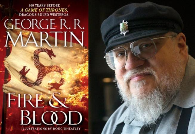 La copertina di Fire & Blood e George R. R.Martin