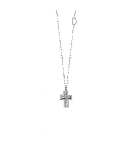 Collana Damiani con croce per regali di Natale