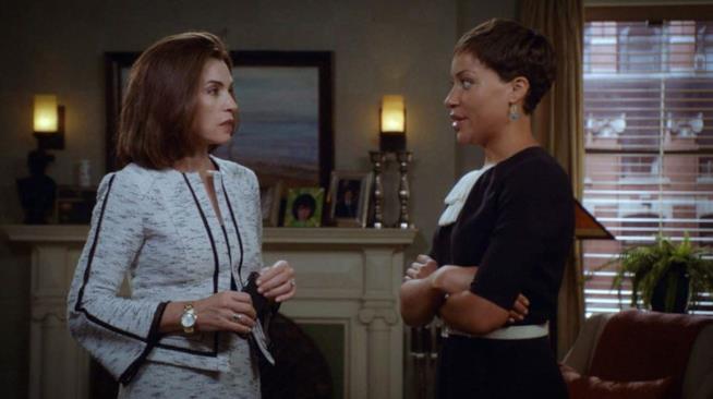 Alicia Florrick e Lucca Quinn in The God Wife