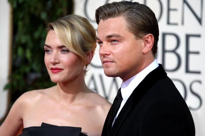 Kate Winslet con l'amico e collega Leonardo DiCaprio