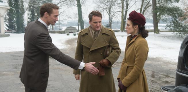 Da sinistra, Sarksgaard, Clarke e la Knightley
