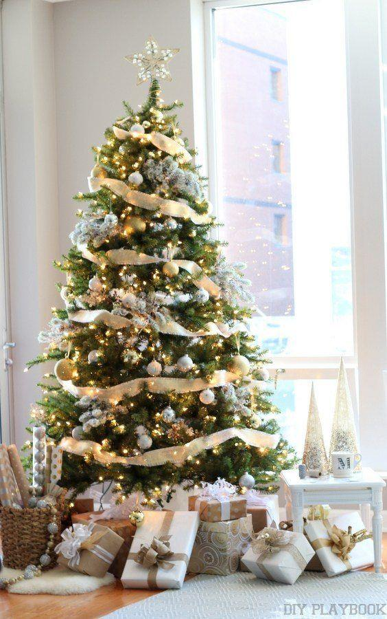 Immagini Alberi Di Natale Decorati.100 Idee E Immagini Per Realizzare L Albero Di Natale
