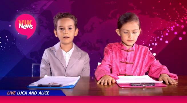 Luca e Alice sono i conduttori di Vik News