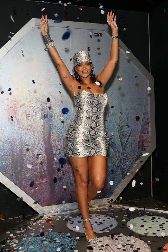 Rihanna all'evento Fendi Beauty
