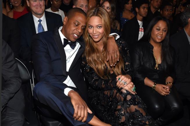 Primo piano di Jay Z e Beyoncé