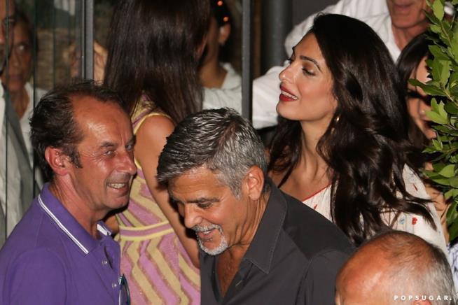 George e Amal Clooney escono dal Gatto Nero