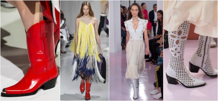 Gli stivali texani protagonisti della Paris Fashion Week P/E 2018