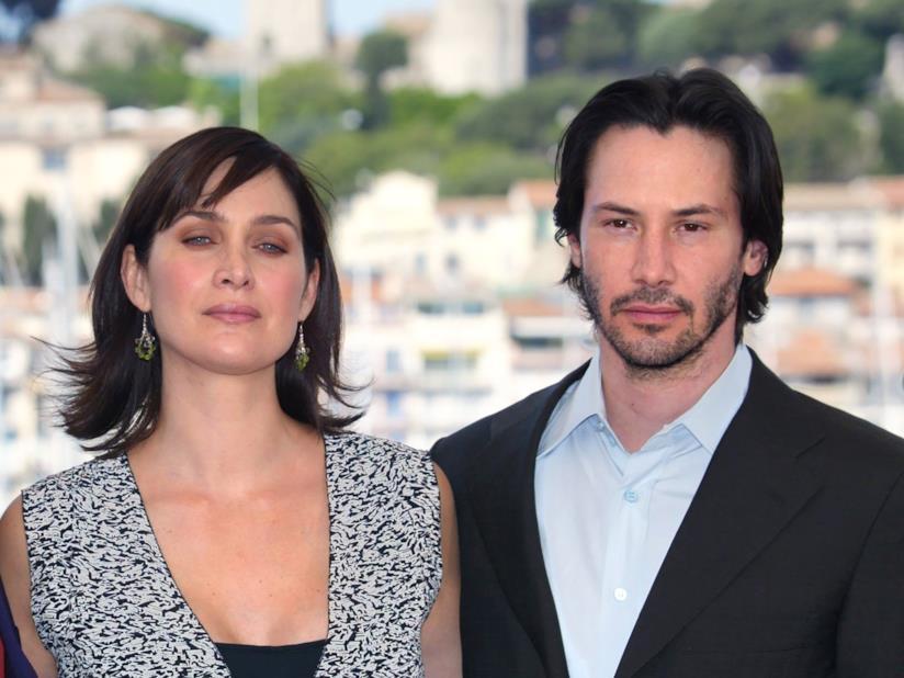 Gli attori Keanu Reeves e Carrie-Ann Moss