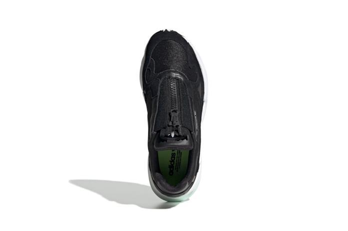 Sneakers modello adidas Falcon con zip colore nero