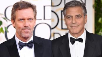 Gli attori Hugh Laurie e George Clooney