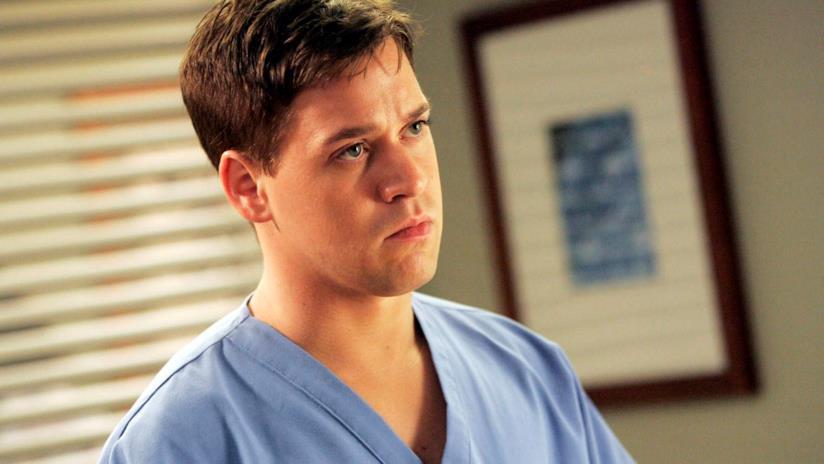 T.R. Knight sul set di Grey's Anatomy