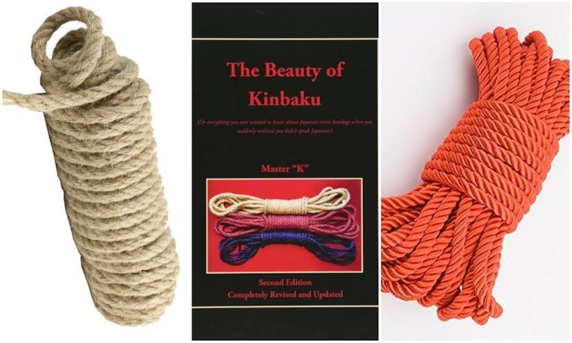 Corde varie e il libro dello Shibari Kinbaku arte erotica giapponese