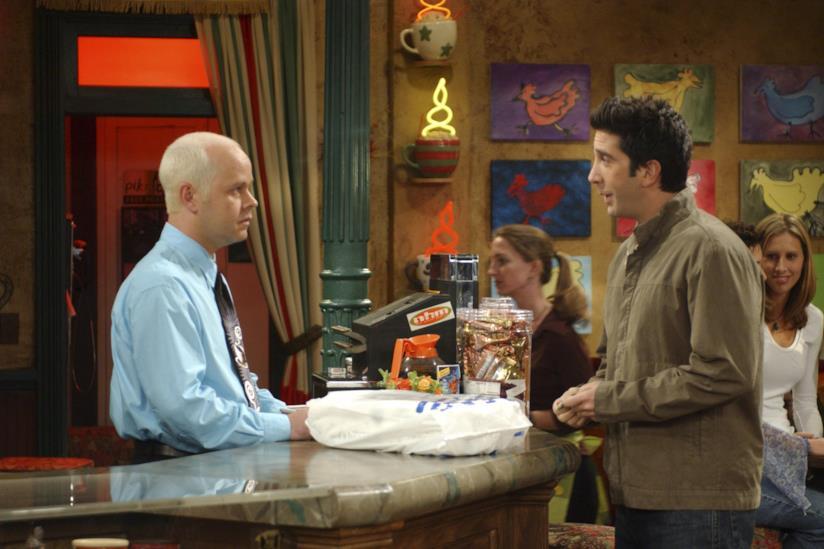 Ross e Gunther al Central Perk di Friends