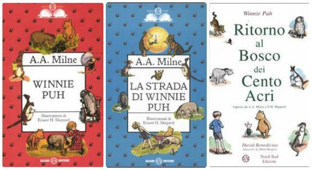 Le copertine dei libri di A. A. Milne