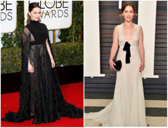 Emilia Clarke ai Golden Globe e agli Oscar 2017