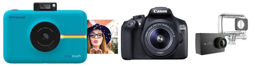 Fotocamere Polaroid, Canon e Yi