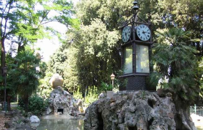 L'orologio ad acqua al Pincio.