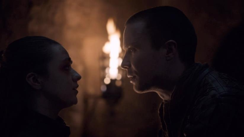 Arya e Gendry in GOT 8x04