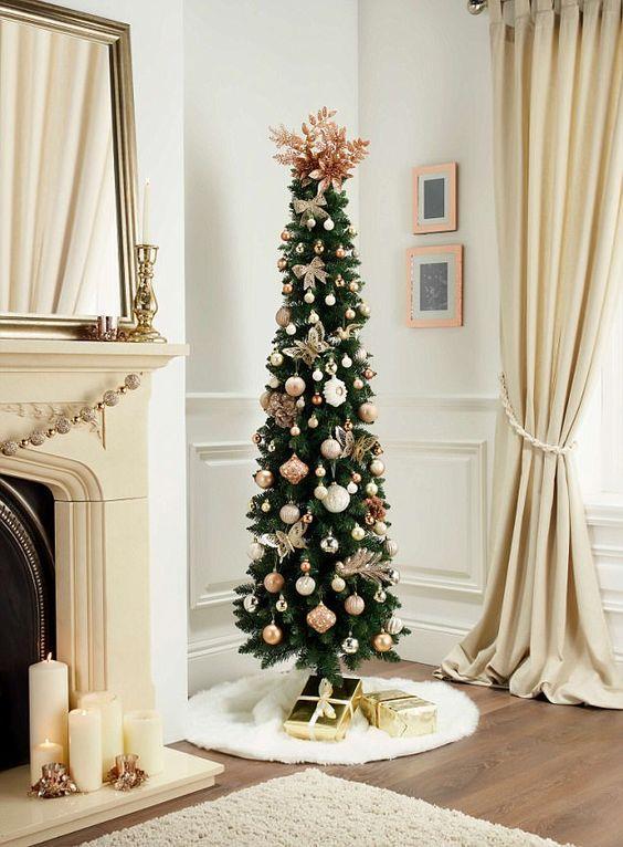 Albero natalizio slim raffinato
