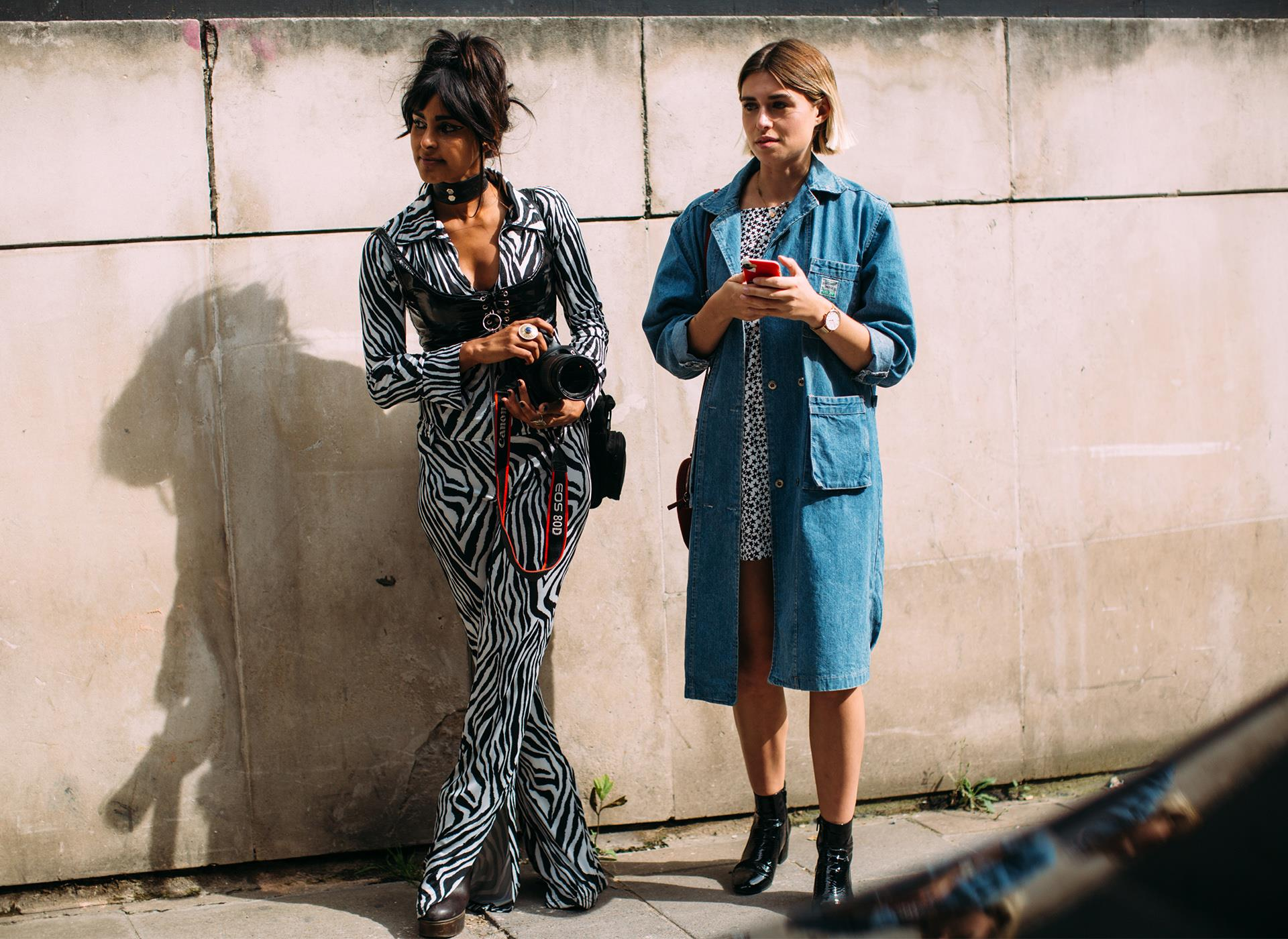 Outfit total animalier dallo Street Style SS19 di Londra