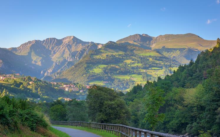 Veduta della valle seriana