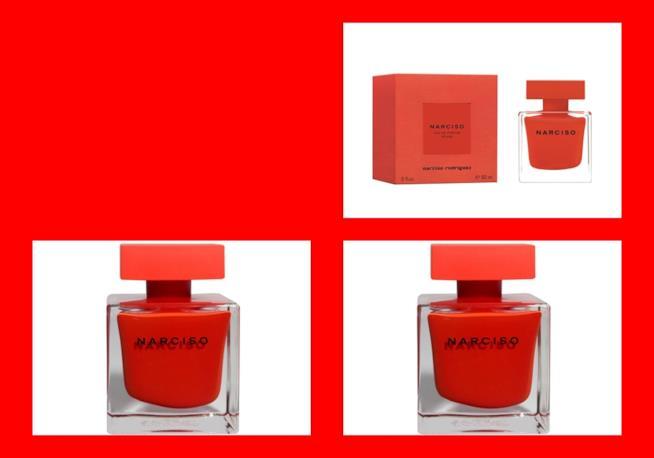 La confezione da 30, 50, 90 ml del nuovo Narciso Eau de Parfum Rouge di Narciso Rodriguez