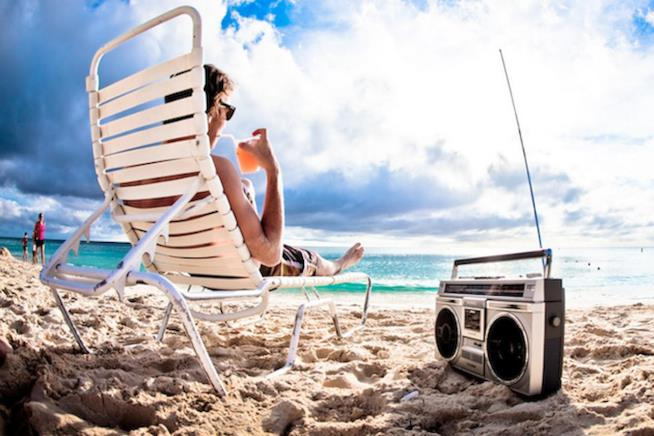 La musica ascoltata in spiaggia